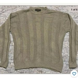 Brooks Brothers Men's Cotton Ribbed Sweater Size L